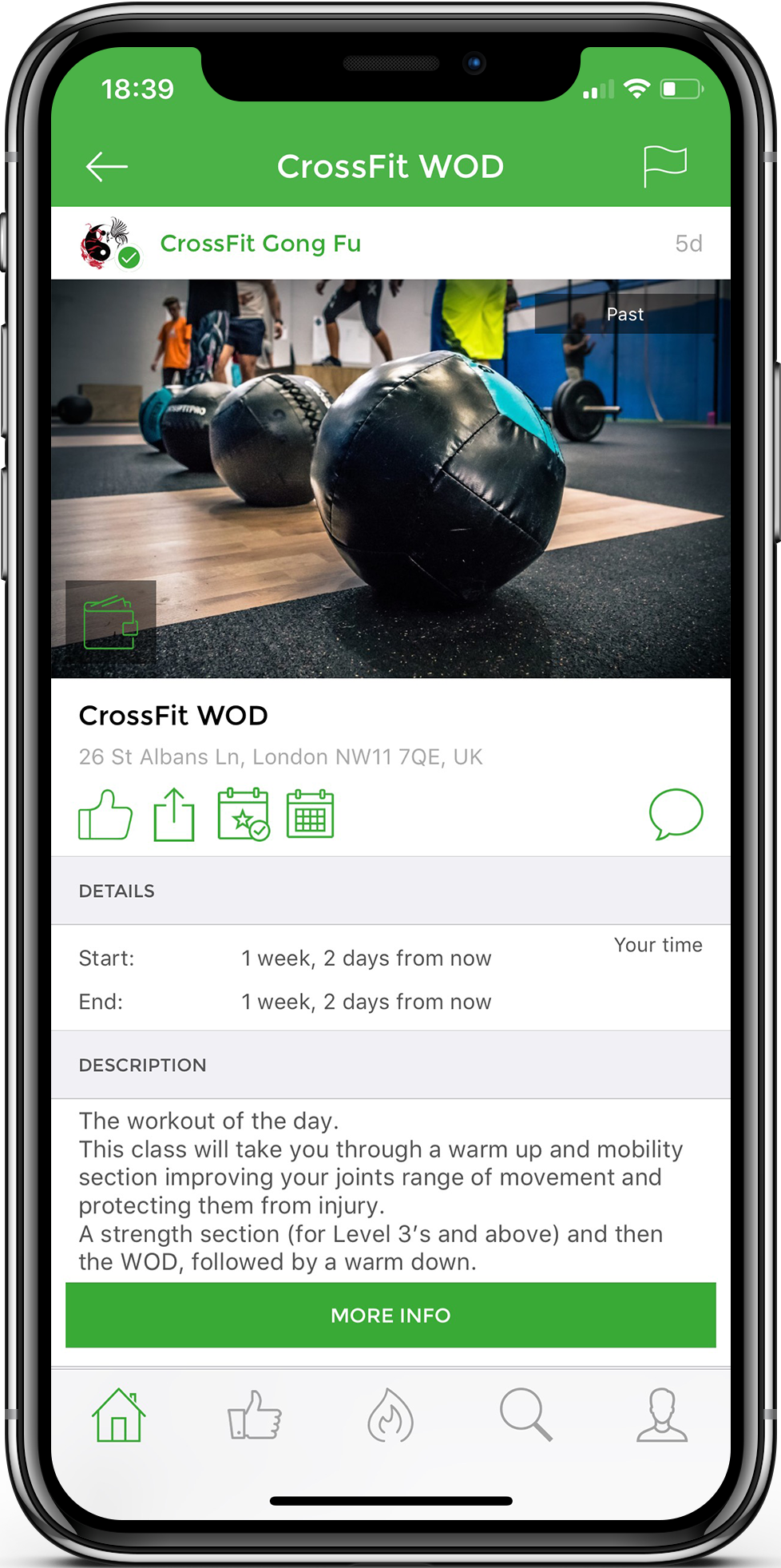 UB Fitness for iPhone screenshot