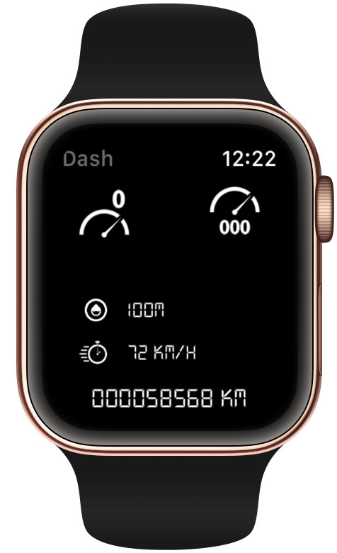 Dash+ for Apple Watch screenshot.