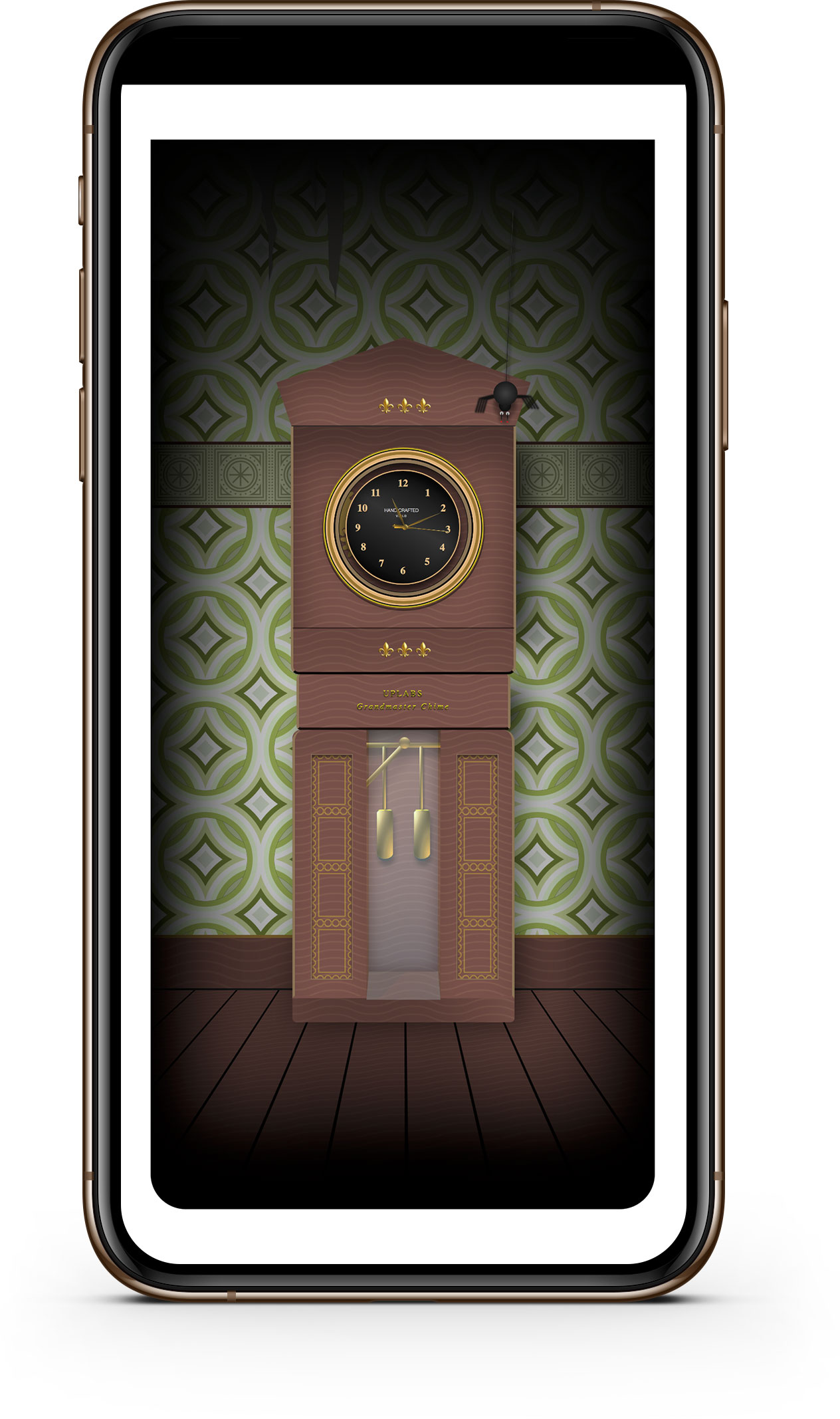 Grandfather clock mobile screenshot.