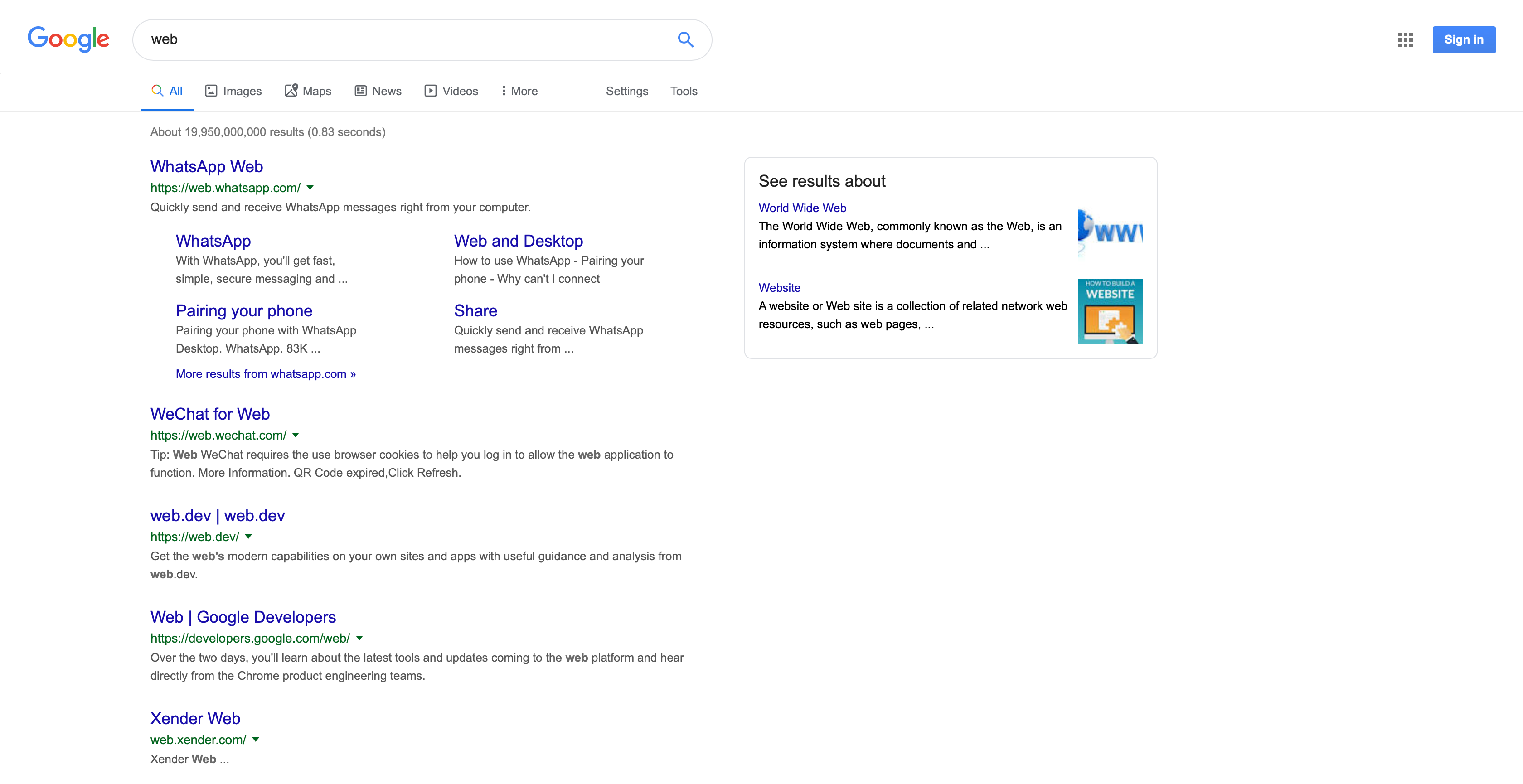 Google Desktop new UI with icons under search