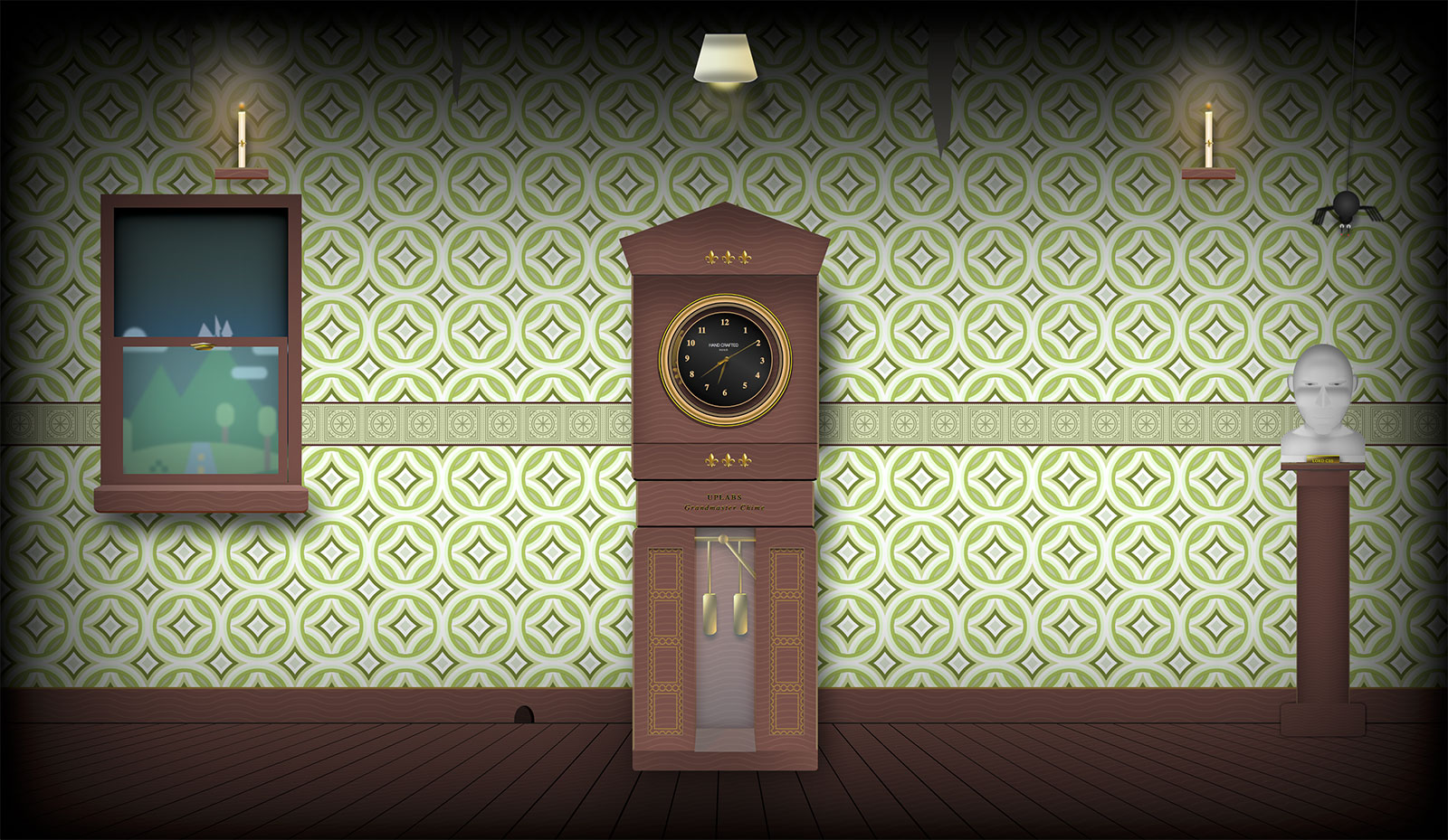 CSS Grandfather Clock